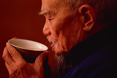 Red Deer (Cervus elaphus) antler medicinal soup consumed by man, which is believed to promote long life, Hong Kong, China  -  Jim Brandenburg