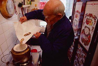 Red Deer (Cervus elaphus) antler mixture prepared by man for medicinal soup that promotes long life, Hong Kong, China  -  Jim Brandenburg
