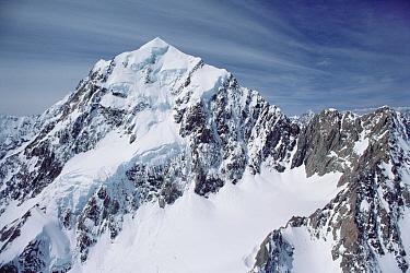 Snow covered peak in the Southern Alps, New Zealand  -  Jim Brandenburg