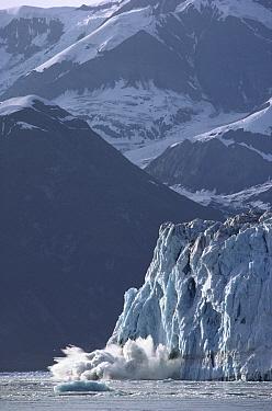 Hubbard Glacier calving, Alaska  -  Michio Hoshino