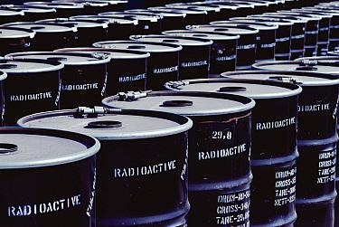 Drums of radioactive waste, Namibia  -  Jim Brandenburg