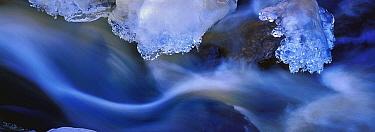 Ice next to creek, Minnesota