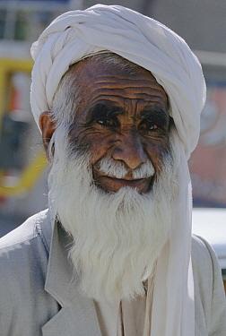 Elderly man with turban, Zahedan, Iran  -  Mark Moffett