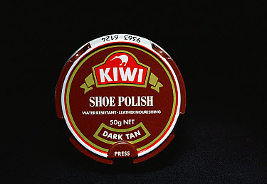 Shoe polish container with the Kiwi featured on the label, New Zealand  -  Tui De Roy