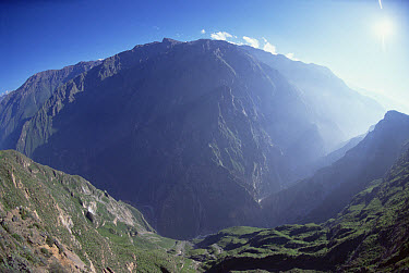 Deeper than the Grand Canyon, Colca Canyon in Peru drops 3,400 meters from mountain top to river  -  Tui De Roy