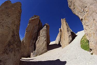 Volcanic tuff formations on high Andean plateau, Mismi Mountain, Colca Canyon, Peru  -  Tui De Roy