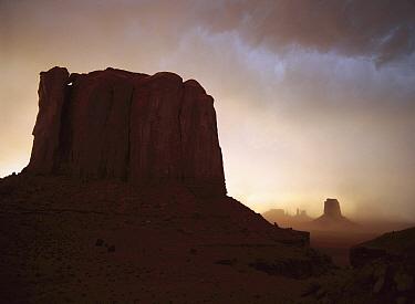 Sandstorm, Elephant Butte at north window, Monument Valley Navajo Tribal Park, Arizona  -  Tim Fitzharris