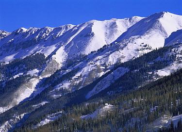 San Juan Mountains covered in snow, Rocky Mountains, southwest Colorado  -  Tim Fitzharris