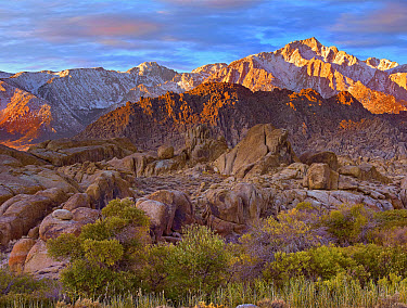 Sun illuminating the Alabama Hills, California  -  Tim Fitzharris