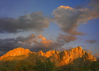 Sunlight illuminating Chisos Mountains, Chihuahuan Desert, Texas  -  Tim Fitzharris