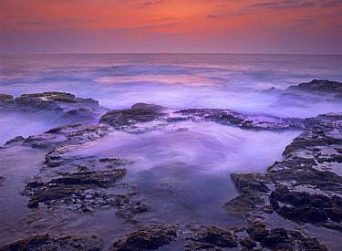 Ocean and lava rocks at sunset, Pu'uhonua, Hawaii  -  Tim Fitzharris