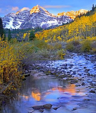 Maroon Bells and Maroon Creek, Colorado  -  Tim Fitzharris