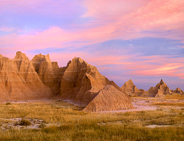 Sandstone striations and erosional features, Badlands National Park, South Dakota  -  Tim Fitzharris