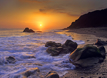 Sunset over Leo Carillo State Beach, Malibu, California  -  Tim Fitzharris