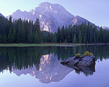 Mount Moran reflected in String Lake, Grand Teton National Park, Wyoming  -  Tim Fitzharris