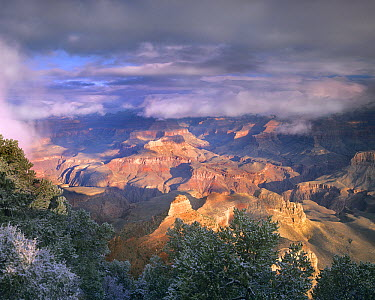 Clearing skies over the South Rim, Grand Canyon National Park, Arizona  -  Tim Fitzharris