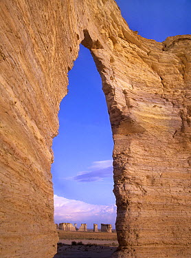 Arch in Monument Rocks National Landmark, Kansas  -  Tim Fitzharris