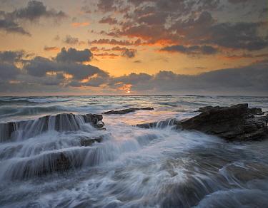 Waves breaking on rocks, Playa Santa Teresa, Costa Rica  -  Tim Fitzharris