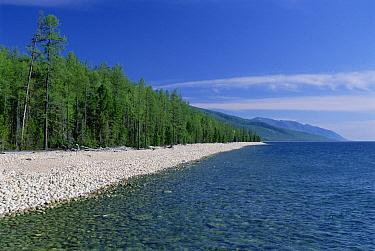 Rocky beaches along the coast of Holy Nose Peninsula, Lake Baikal, Russia  -  Konrad Wothe