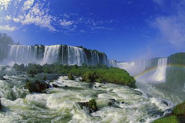 Rainbow at Iguacu Falls, largest waterfalls in the world, Iguacu National Park, Brazil