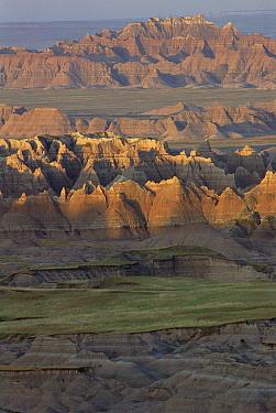 Eroded landform, Badlands National Park, South Dakota  -  Gerry Ellis