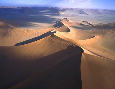 Star dune formations, Namib-Naukluft National Park, Namibia