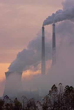 Gas effluence from nuclear power plant, upper Ohio River, Ohio  -  Gerry Ellis