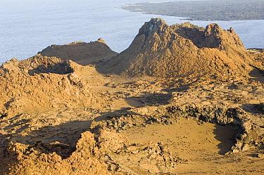 Bartolome Island a landscape of lava and ash, Galapagos Islands, Ecuador  -  Pete Oxford