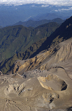 Crater of Guagua Pichincha, an active volcano in the Andes Mountains near Quito, Ecuador  -  Pete Oxford