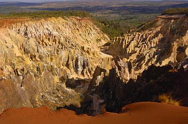Lavaka or erosion scars, western deciduous forest, Ankarafantsika Strict Nature Reserve, Madagascar  -  Pete Oxford