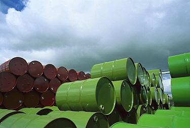 Chemical drum storage at Altona near Melbourne, Victoria, Australia  -  Jean-Marc La Roque/ Auscape
