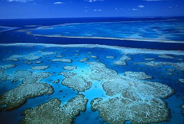 Deep channel separating Hardy Reef from Hook Reef, Great Barrier Reef Marine Park, World Heritage Site, Queensland, Australia  -  Jean-Paul Ferrero/ Auscape