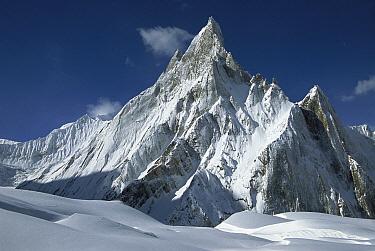 Mitre Peak at 6,252 meters elevation above Concordia towers over Baltoro Glacier, Karakoram Mountains, Pakistan  -  Colin Monteath/ Hedgehog House