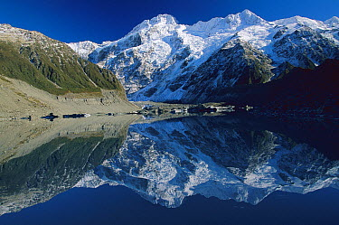 Mt Sefton reflected in Mueller Glacier Lake, Mt Cook National Park, New Zealand  -  Colin Monteath/ Hedgehog House