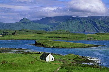 Lonely farm cottage, Canna Island, Inner Hebrides, Scotland  -  Colin Monteath/ Hedgehog House