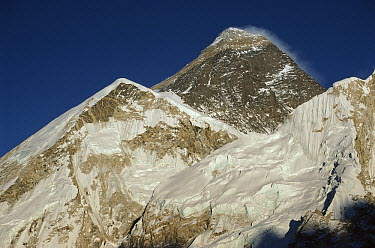 Mount Everest at dusk seed from Kala Pattar, Khumbu, Nepal  -  Colin Monteath/ Hedgehog House