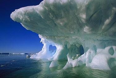 Undercut iceberg, Petermann Island, Antarctic Peninsula, Antarctica  -  Colin Monteath/ Hedgehog House