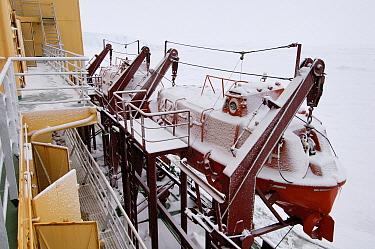 Lifeboat of the Russian icebreaker Kapitan Khlebnikov, Antarctica  -  Jan Vermeer
