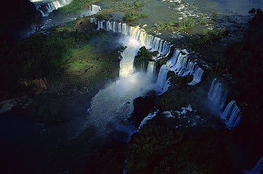 Aerial view of the Iguacu Falls, Brazil  -  Claus Meyer