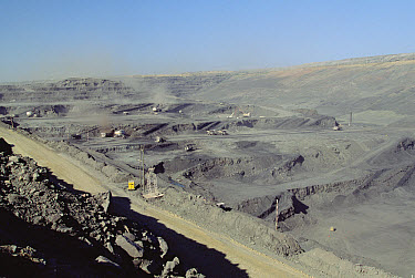Cerrejon open pit coal mine, 5th largest in the world, near Riohacha, Colombia  -  Claus Meyer
