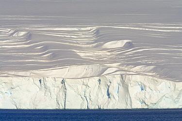 Coastal glacier descending to sea, Gerlache Passage, western Antarctica  -  Yva Momatiuk & John Eastcott