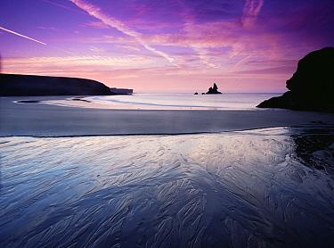 Sunrise, Broadhaven, south Pembrokeshire National Park, Wales  -  Tim Martin/ npl