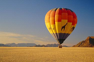 Hot air balloon over Namibrand NR, Namibia  -  Pat De La Harpe/ npl