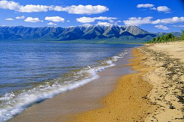east shore landscape of Baikal Lake, Svyatoy Nos Peninsula, Russia  -  Konstantin Mikhailov/ npl