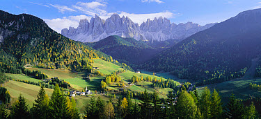 Trentino and Alto Adige with The Dolomites behind, Italy  -  Gavin Hellier/ npl