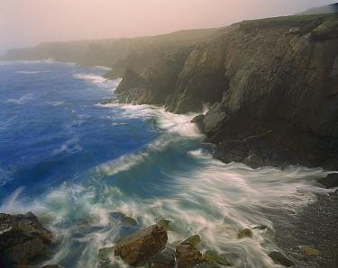 Coastline in fog, Cape Breton Island, Nova Scotia, Canada  -  Scott Leslie