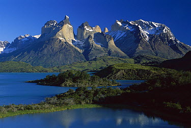 Cuernos del Paine and Lago Pehoe, Torres del Paine National Park, Patagonia, Chile  -  Kevin Schafer
