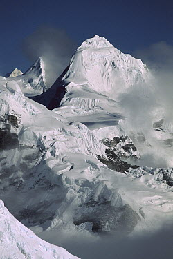 Peak seen from the Tibetan border, Nepal  -  Colin Monteath/ Hedgehog House