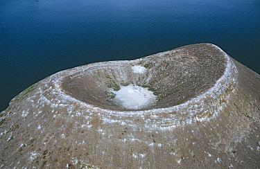 Volcanic caldera, Daphne Island, Galapagos Islands, Ecuador  -  D. Parer & E. Parer-Cook