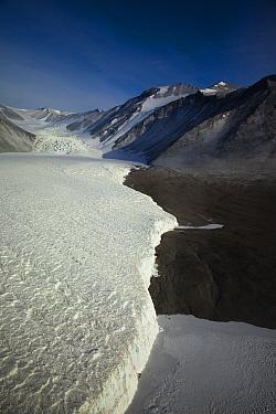 Glacier in Lower Taylor Valley, Dry Valleys, Antarctica  -  Colin Monteath/ Hedgehog House